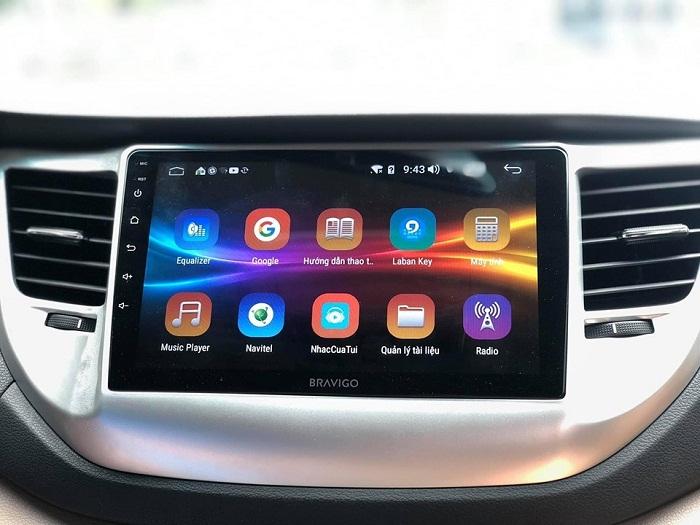 Màn hình DVD Bravigo xe Hyundai Tucson 2019