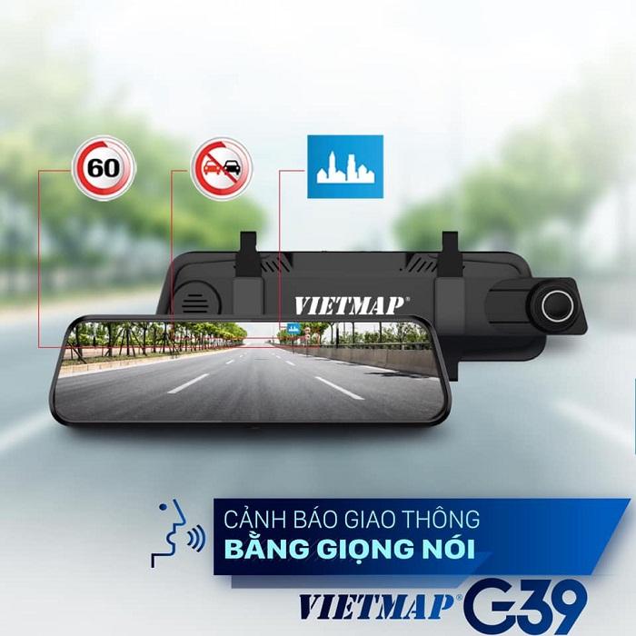 Camera hành trình Vietmap G39 - Màn hình gương điện tử thông minh
