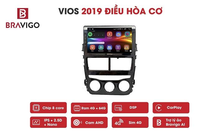 Màn hình DVD Bravigo xe Vios 2019